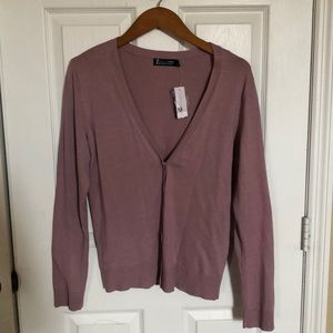 New York and Company lilac cardigan